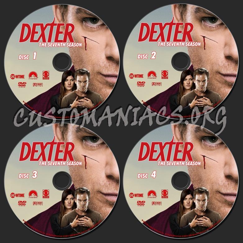 Dexter Season 7 dvd label