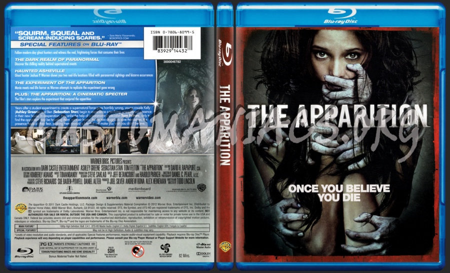 The Apparition blu-ray cover