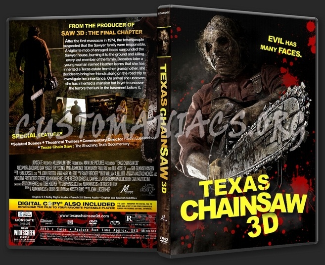 texas chainsaw 3d dvd cover car interior design