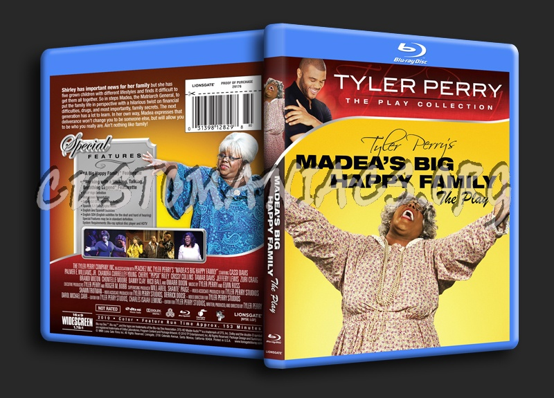Madea's Big Happy Family the Play blu-ray cover