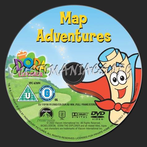 Dora the Exporer: Map Adventures dvd label - DVD Covers ...
