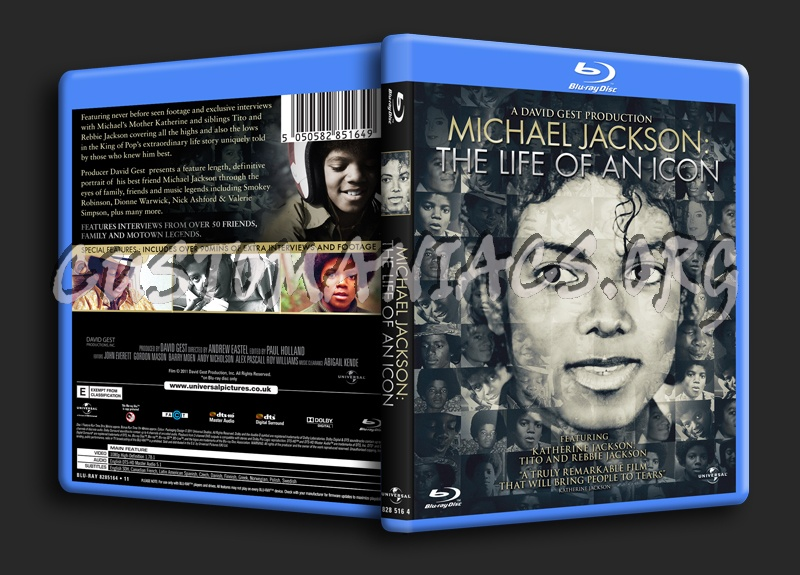 Michael Jackson The Life of an Icon blu-ray cover