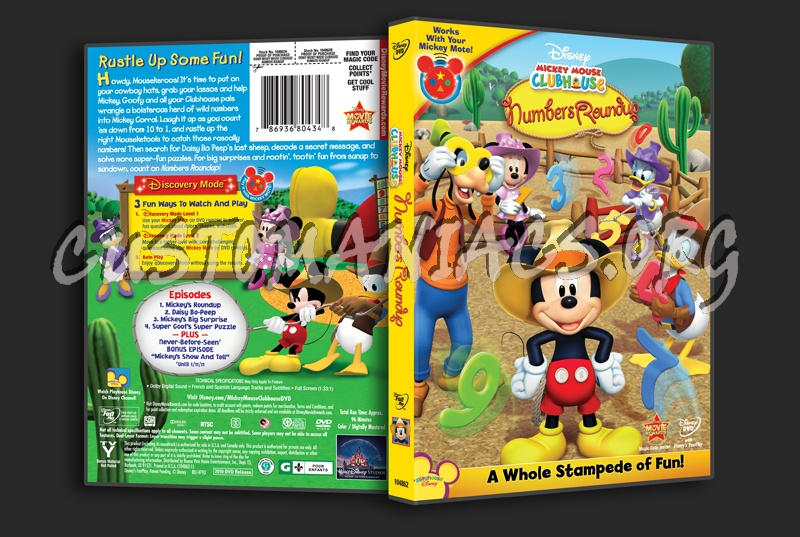 Mickey Mouse Clubhouse Mickey's Numbers Roundup dvd cover ...