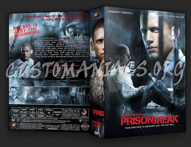 Prison Break 1, 2 & 3 dvd cover