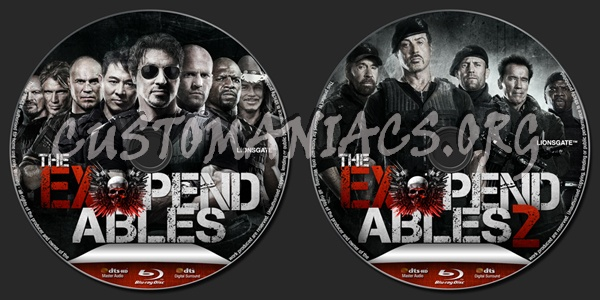 The Expendables Collection blu-ray label