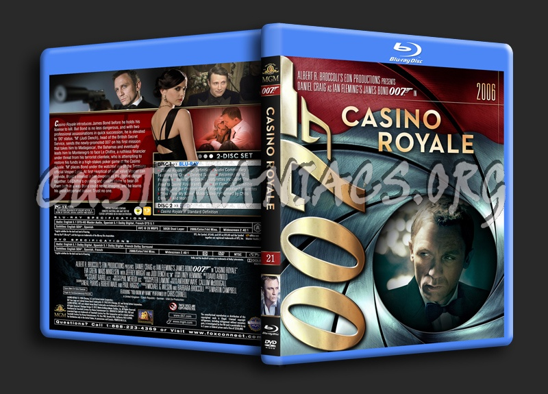 James Bond Collection - Casino Royale (21) blu-ray cover