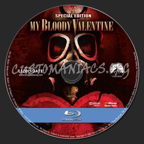 My Bloody Valentine (1981) blu-ray label