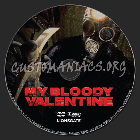 My Bloody Valentine dvd label