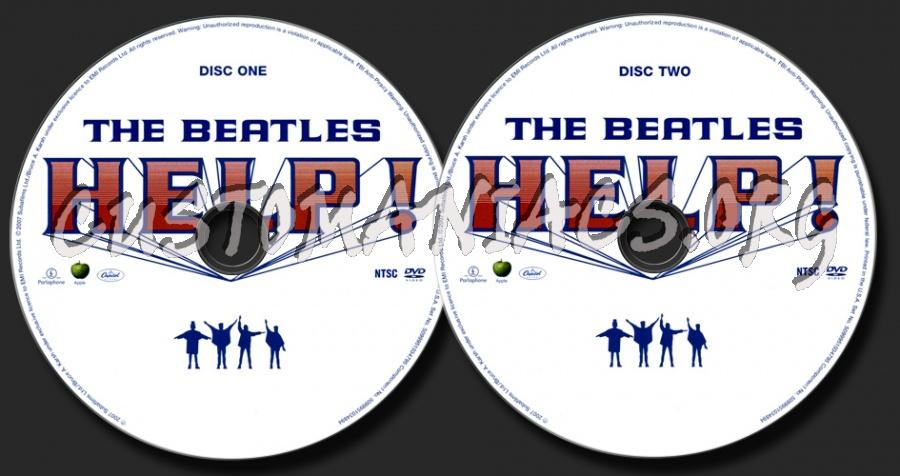The Beatles Help! dvd label