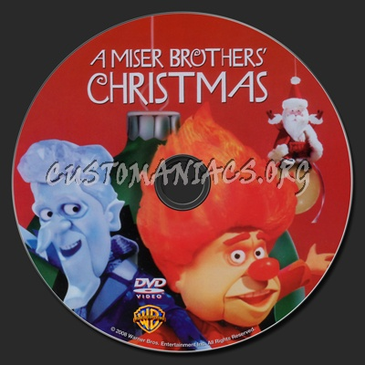 A Miser Brothers Christmas Dvd Label