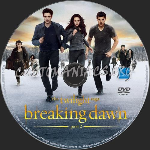 The Twilight Saga: Breaking Dawn - Part 2 dvd label