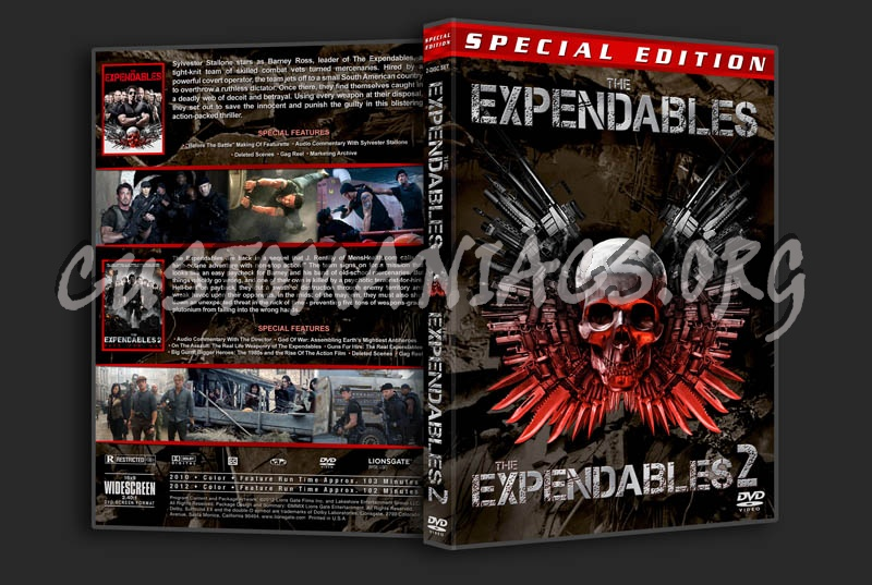 The Expendables Double Feature dvd cover