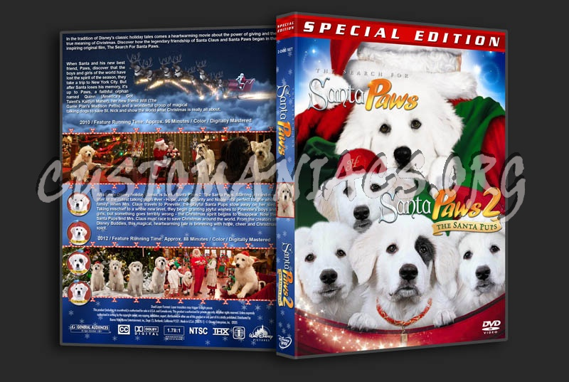 The Search for Santa Paws / Santa Paws 2: The Santa Pups Double dvd cover