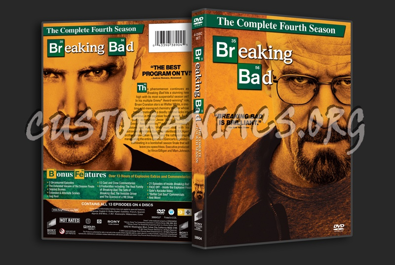 Breaking Bad Season 4 dvd cover