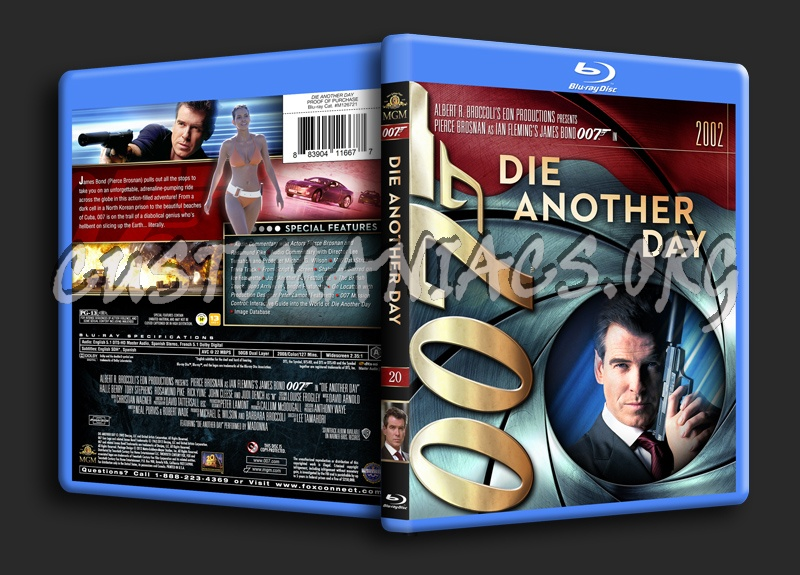 James Bond Collection - Die Another Day (20) blu-ray cover