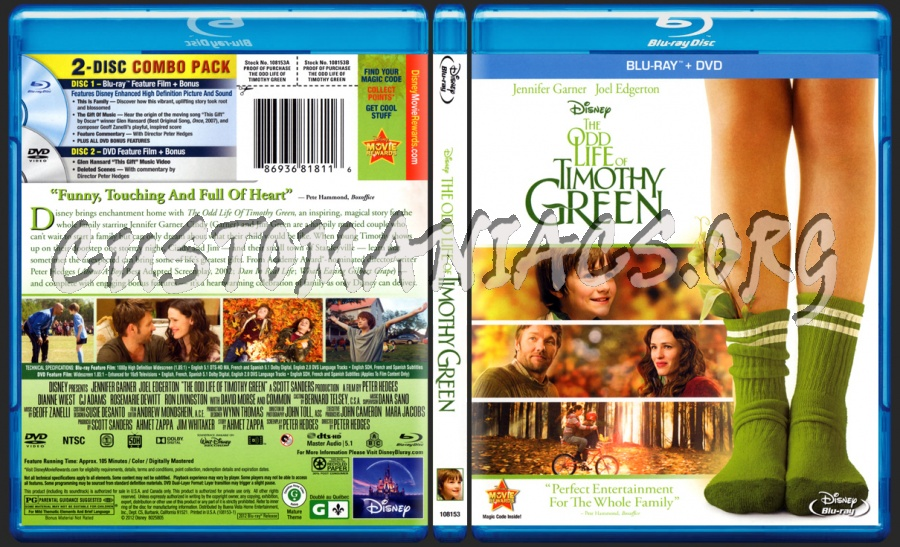 The Odd Life of Timothy Green blu-ray cover