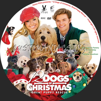 12 Dogs Of Christmas.12 Dogs Of Christmas Great Puppy Rescue Dvd Label Dvd