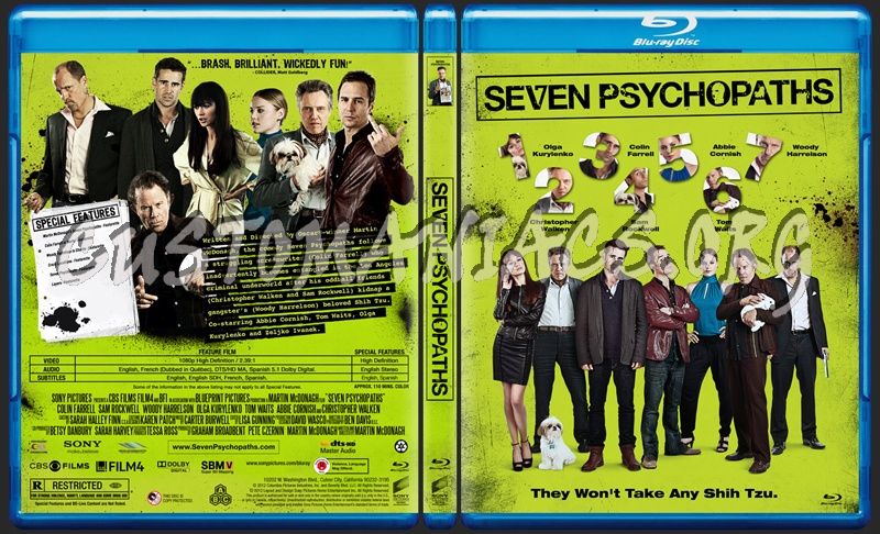 Seven Psychopaths blu-ray cover