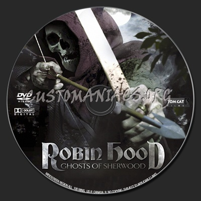 Robin Hood: Ghosts of Sherwood dvd label