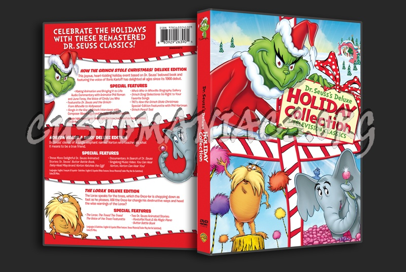 Dr seuss s deluxe holiday collection dvd cover dvd covers amp labels