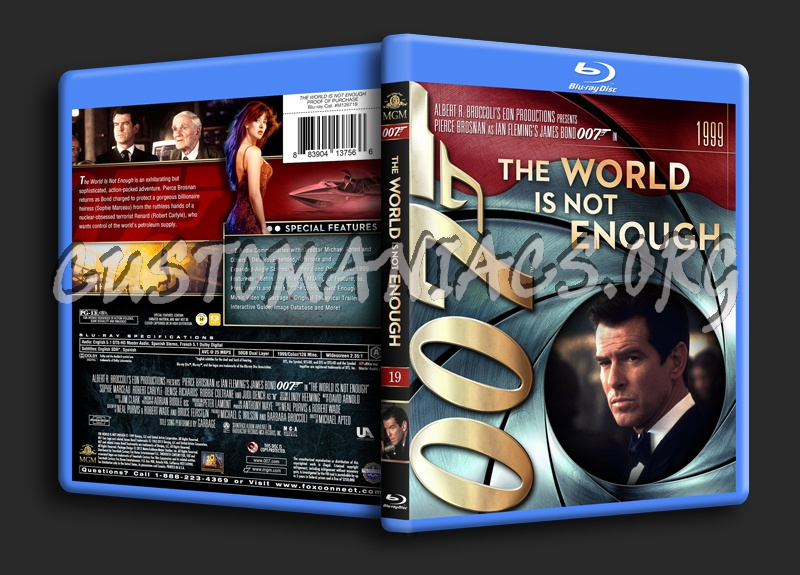 James Bond Collection - The World Is Not Enough (19) blu-ray cover