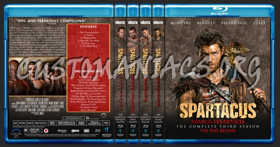 Spartacus Tv Collection blu-ray cover