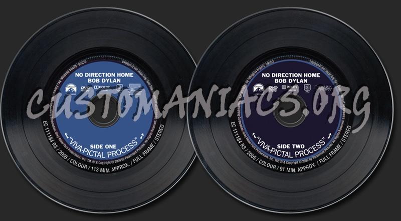 No Direction Home - Bob Dylan dvd label