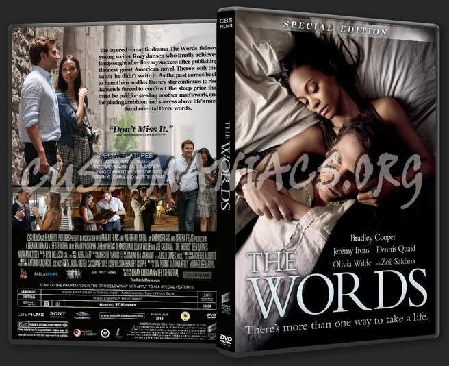 The Words dvd cover