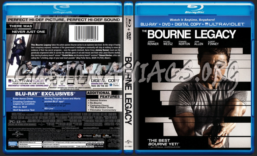 The Bourne Legacy blu-ray cover - DVD Covers & Labels by ...