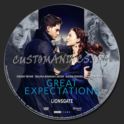 Great Expectations (2012) dvd label