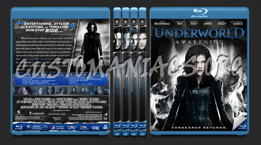 The Underworld Collection blu-ray cover