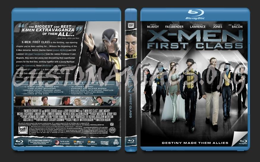 X-Men:First Class blu-ray cover