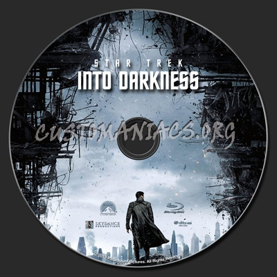 Star Trek Into Darkness blu-ray label