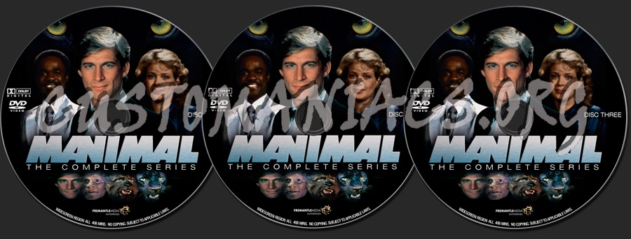 Manimal dvd label