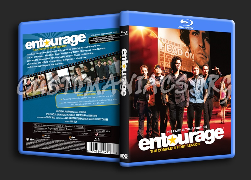 Entourage Season 1 Blu Ray Cover Dvd Covers Labels By