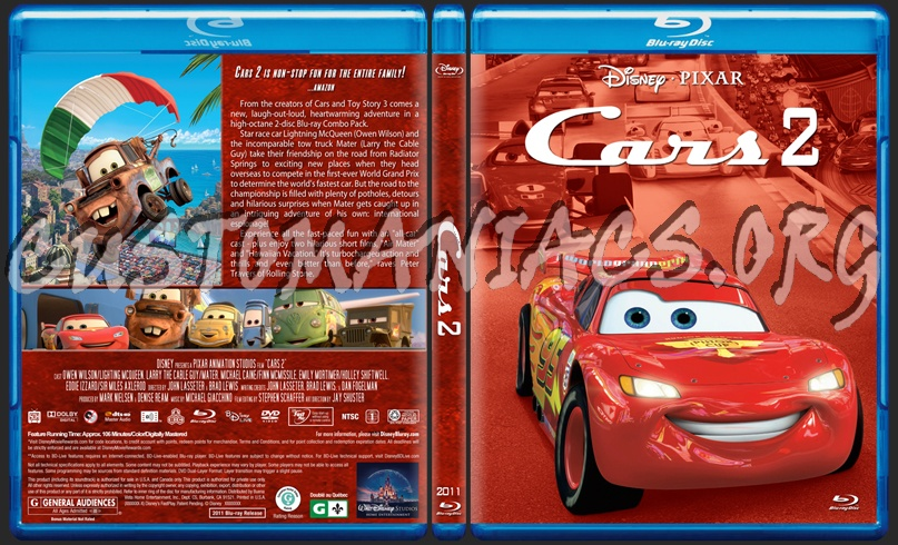 Cars 2 Blu Ray Cover Dvd Covers Labels By Customaniacs Id