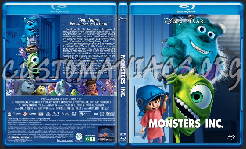 Monsters Inc. blu-ray cover
