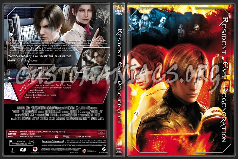 Resident Evil Degeneration dvd cover