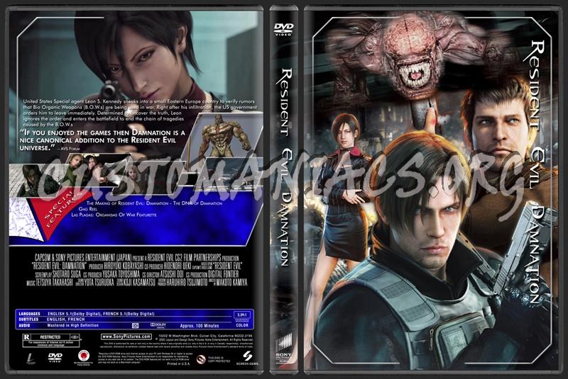 Resident Evil Damnation dvd cover