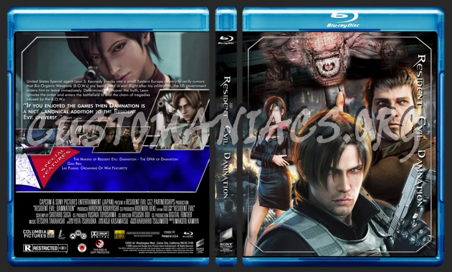 Resident Evil Damnation Blu Ray Cover Dvd Covers Labels By Customaniacs Id 183093 Free Download Highres Blu Ray Cover