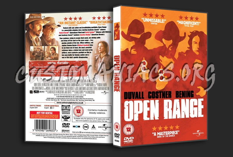open range dvd cover dvd covers labels by customaniacs id 183131 free download highres dvd. Black Bedroom Furniture Sets. Home Design Ideas
