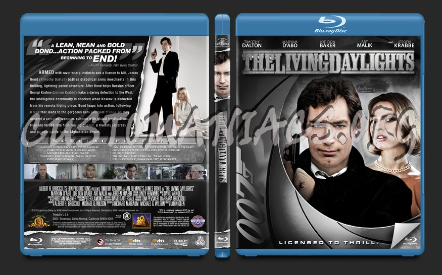 The Living Daylights blu-ray cover