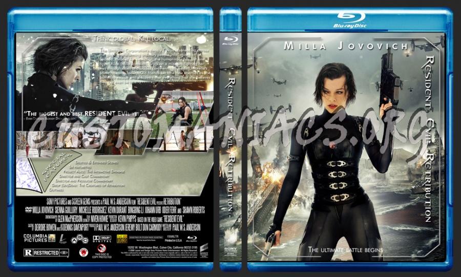 Resident Evil Retribution blu-ray cover