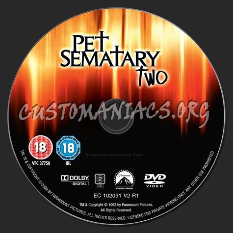 Pet Sematary 2 dvd label