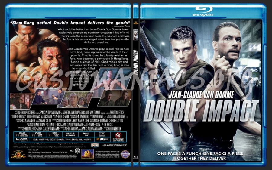 Double Impact blu-ray cover