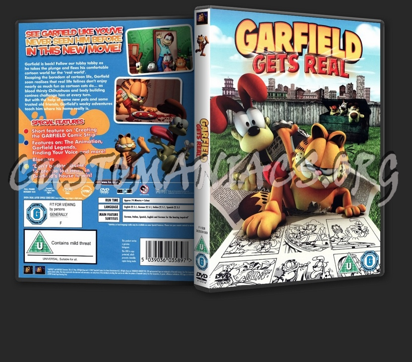 Garfield Gets Real Dvd Cover Dvd Covers Labels By Customaniacs Id 31738 Free Download Highres Dvd Cover