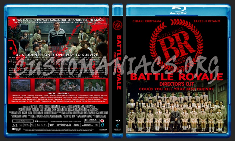 Battle Royale Director's Cut blu-ray cover