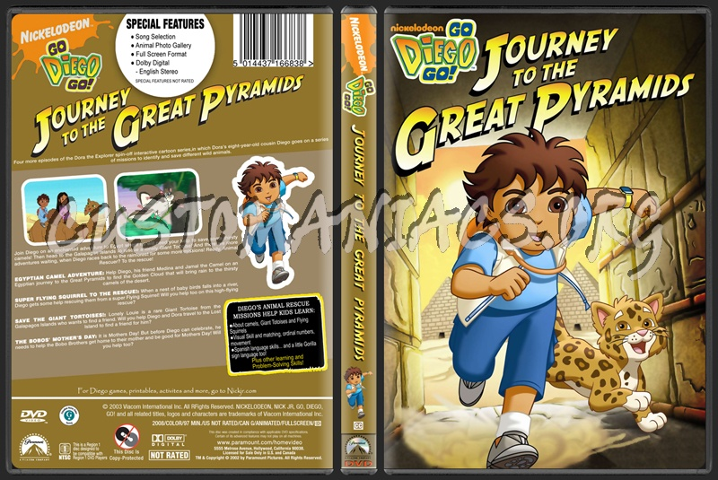Go Diego Go Journey To The Great Pyramids dvd cover