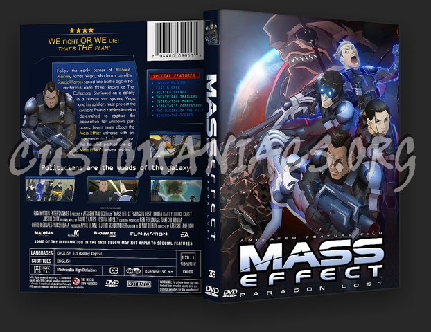 Mass Effect Paragon Lost Dvd Cover Dvd Covers Labels By Customaniacs Id 183848 Free Download Highres Dvd Cover