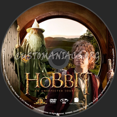 The Hobbit: An Unexpected Journey dvd label
